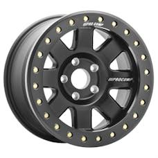 Pro Comp Wheels 5175-797347 Trilogy Race SATIN BLACK 17x9 5x5 4.75BS Offset-6mm Cap P/N 507517001; 10850001
