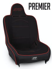 PRP Seats A100110-57 - Premier High Back Suspension Seat Black with Red Outline PRP Seats