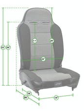 PRP Seats A130110-54 - Enduro High Back Reclining Suspension Seat Black/Gray with Silver Outline PRP Seats