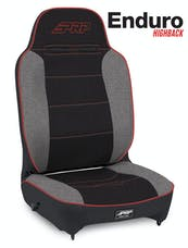 PRP Seats A130110-57 - Enduro High Back Reclining Suspension Seat Black/Gray with Red Outline PRP Seats