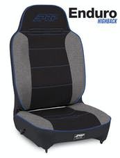 PRP Seats A130110-71 - Enduro High Back Reclining Suspension Seat Black/Gray with Blue Outline PRP Seats
