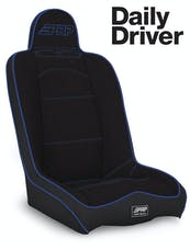 PRP Seats A140110-71 - Daily Driver High Back Suspension Seat Black with Blue Outline PRP Seats