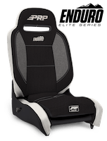 PRP Seats A3101-54 - Enduro Elite Reclining Suspension Seat Black/Gray with Silver Outline PRP Seats