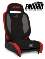 PRP Seats A3101-57 - Enduro Elite Reclining Suspension Seat Black/Gray with Red Outline PRP Seats