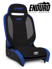 PRP Seats A3101-71 - Enduro Elite Reclining Suspension Seat Black/Gray with Blue Outline PRP Seats