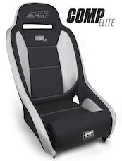 PRP Seats A8301-54 - Comp Elite Suspension Seat Black with Gray Trim PRP Seats