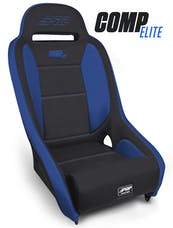 PRP Seats A8301-71 - Comp Elite Suspension Seat Black with Blue Trim PRP Seats