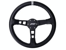 PRP Seats G112 - Deep Dish Leather Steering Wheel Silver PRP Seats