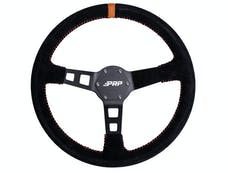 PRP Seats G124 - Deep Dish Suede Steering Wheel, Orange PRP Seats