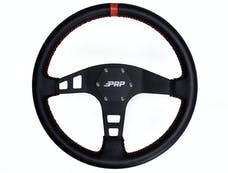 PRP Seats G213 - Flat Leather Steering Wheel Red PRP Seats