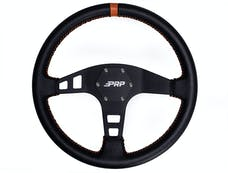 PRP Seats G214 - Flat Leather Steering Wheel Orange PRP Seats