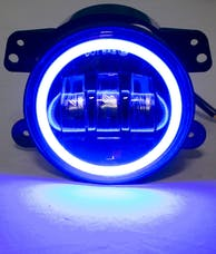 "Race Sport Lighting RS-4FHALOB 4"" LED 30-Watt Cree Fog Light Kit 30W 1440LM with Blue LED Halo"