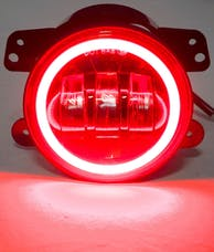 "Race Sport Lighting RS-4FHALOR 4"" LED 30-Watt Cree Fog Light Kit 30W 1440LM with Red LED Halo"