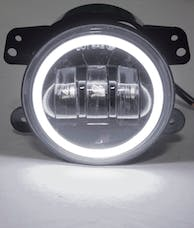 "Race Sport Lighting RS-4FHALOW 4"" LED 30-Watt Cree Fog Light Kit 30W 1440LM with White LED Halo"