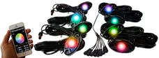 Race Sport Lighting RSLD8KITCS ColorSMART 8-LED Glow Pod BLACK Kit