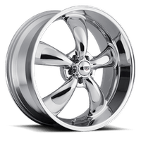 REV Wheels 100C-6806500 - Classic 16x8 5x114.3 00MM 24 Lbs Chrome Aluminum Wheels 100 Classic Series REV Wheels