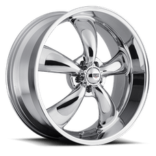 REV Wheels 100C-6806500 - Classic 16x8 5x114.3 00MM 24 Lbs Chrome Aluminum Wheels 100 Classic Series REV Wheels