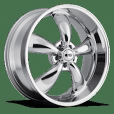 REV Wheels 100C-5707300 - Classic 15X7 5X127 +0MM 19 Lbs Chrome Aluminum Wheels 100 Classic Series REV Wheels