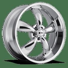 REV Wheels 100C-5807300 - Classic 15X8 5X127 +0MM 20 Lbs Chrome Aluminum Wheels 100 Classic Series REV Wheels