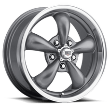 REV Wheels 100S-8906100 - Classic 18X9 5X120.65 00MM Silver 29 Lbs Anthracite Aluminum Wheels 100 Classic Series REV Wheels