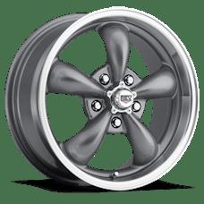 REV Wheels 100S-5806100 - Classic 15X8 5X120.65 0MM Silver 20 Lbs Anthracite Aluminum Wheels 100 Classic Series REV Wheels