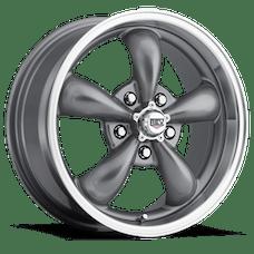 REV Wheels 100S-5807300 - Classic 15X8 5X127 0MM Silver 20 Lbs Anthracite Aluminum Wheels 100 Classic Series REV Wheels