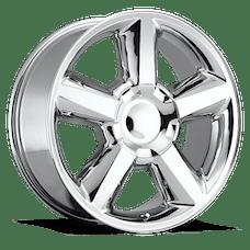 REV Wheels 580C-2858332 - LTZ 20X8.5 6X139.7 +32MM 37 Lbs Chrome Aluminum Wheels 580 OE Replica Series REV Wheels