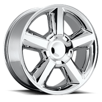 REV Wheels 580C-2298332 - LTZ 22X9 6X139.7 +32MM 43 Lbs Chrome Aluminum Wheels 580 OE Replica Series REV Wheels