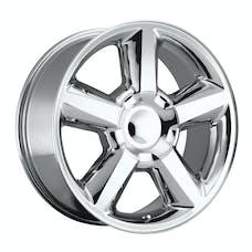 REV Wheels 580P-2858332 - LTZ 20X8.5 6X139.7 +32MM 37 Lbs Polished Aluminum Wheels 580 OE Replica Series REV Wheels