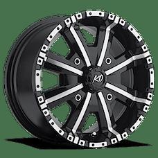 REV Wheels 808B-5705625 - Dirty Harry 15X7 4X156 +25MM Black Machined Aluminum Wheels 808 Offroad Dirty Harry Series REV Wheels