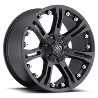 REV Wheels 840B-2903220 - KO 20X9 5X127 5X139.7 +20MM 32 Lbs Matte Black Aluminum Wheels 840 Offroad Series REV Wheels