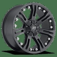 REV Wheels 840B-7903218 - KO 17X9 5X127 5X139.7 +18MM 31 Lbs Matte Black Aluminum Wheels 840 Offroad KO Series REV Wheels