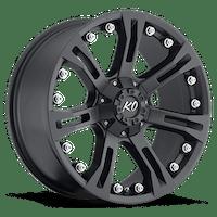 REV Wheels 840B-7908318 - KO 17X9 6X139.7 +18MM 4.250 CB 31 Lbs Matte Black Aluminum Wheels 840 Offroad KO Series REV Wheels
