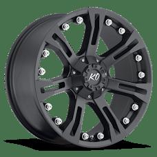 REV Wheels 840B-2908300 - KO 20X9 6X139.7 +00MM C/B 3.42 34 Lbs Matte Black Aluminum Wheels 840 Offroad KO Series REV Wheels