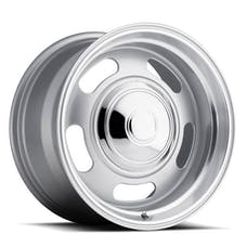 REV Wheels 107S-8800600 - 107 Classic Rally 18X8 5X120.7/5X127 +0MM 25 Lbs Silver/Trim Ring Aluminum Wheels 107 Classic Rally Series REV Wheels