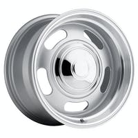REV Wheels 107S-2958300 - 107 Classic Rally 20X9.5 6x139.7 +0MM 42 Lbs Silver/Trim Ring Aluminum Wheels 107 Classic Rally Series REV Wheels
