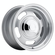 REV Wheels 107S-8908300 - 107 Classic Rally 18X9 6X139.7 +0MM 28 Lbs Silver/Trim Ring Aluminum Wheels 107 Classic Rally Series REV Wheels