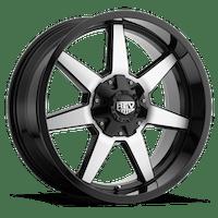REV Wheels 875MB-2903512 - 875 REV 20X9 6X135/6X139.7 -12MM Gloss Black with Machined Face 38 Lbs Machined Aluminum Wheels 875 Offroad REV Series REV Wheels