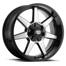 REV Wheels 875MB-2903512 - 875 REV 20X9 6X135/6X139.7 -12MM Gloss Black with Machined Face 38 Lbs Machined Aluminum Wheels 875 Offroad REV Series REV Wheels
