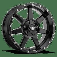 REV Wheels 875B-7903212 - 875 REV 17X9 5X127 / 5X139.7 -12MM Gloss Black 31 Lbs Milled Aluminum Wheels 875 Offroad REV Series REV Wheels