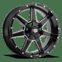 REV Wheels 875M-2903212 - 875 REV 20X9 5X127 / 5X139.7 -12MM Gloss Black and Milled 38 Lbs Milled Aluminum Wheels 875 Offroad REV Series REV Wheels