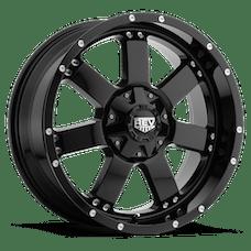 REV Wheels 885B-7908300 - 885 REV 17X9 6x139.7 0MM Gloss Black 32 Lbs Gloss Black Aluminum Wheels 885 Offroad REV Series REV Wheels