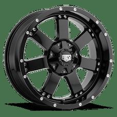 REV Wheels 885B-7903212 - 885 REV 17X9 5X127 / 5X139.7 -12MM Gloss Black 32 Lbs Gloss Black Aluminum Wheels 885 Offroad REV Series REV Wheels