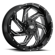 REV Wheels 895M-7908312 - 895 REV 17X9 6x139.7 -12MM Gloss Black and Milled 30 Lbs Milled Aluminum Wheels 895 Offroad REV Series REV Wheels