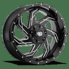REV Wheels 895M-2903512 - 895 REV 20X9 6X139.7 / 6X135 -12MM Gloss Black and Milled 42 Lbs Milled Aluminum Wheels 895 Offroad REV Series REV Wheels