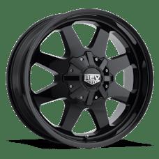 REV Wheels 823B-7903212 - 823 REV 17x9 5X127/5X139.7 -12MM 32 Lbs Gloss Black Aluminum Wheels 823 Offroad REV Series REV Wheels