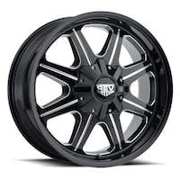 REV Wheels 823M-2903212 - 823 REV 20X9 5X127 / 5X139.7 -12MM Milled Black Gloss 51 Lbs Milled Aluminum Wheels 823 Offroad REV Series REV Wheels