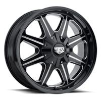 REV Wheels 823M-2908112 - 823 REV 20X9 8X165.10 -12MM -12MM Milled Black Gloss 51 Lbs Milled Aluminum Wheels 823 Offroad REV Series REV Wheels