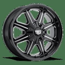 REV Wheels 823M-7908312 - 823 REV 17X9 6X139.7 -12MM Milled Black Gloss 32 Lbs Milled Aluminum Wheels 823 Offroad REV Series REV Wheels