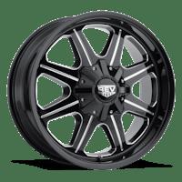 REV Wheels 823M-2908312 - 823 REV 20X9 6x139.7 -12MM Milled Black Gloss 51 Lbs Milled Aluminum Wheels 823 Offroad REV Series REV Wheels